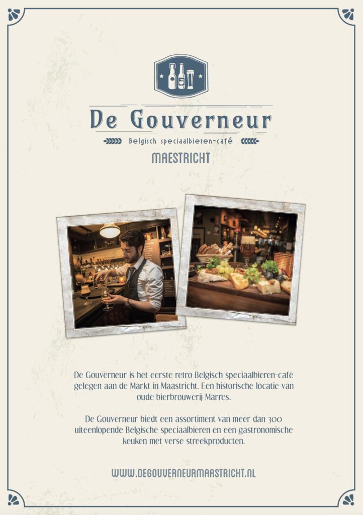 Bekijk de menukaart van De Gouverneur Maastricht